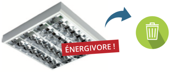 Vieille dalle energivore